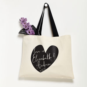 Personalised Valentine's Day Heart Bag - wedding cards & wrap