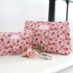 Personalised Wash Bag And Jewellery Pouch Gift Set - bathroom