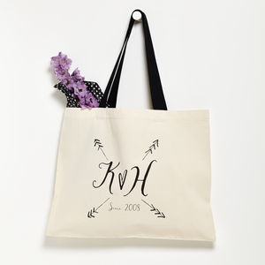 Personalised Love Arrows Valentine Tote Bag