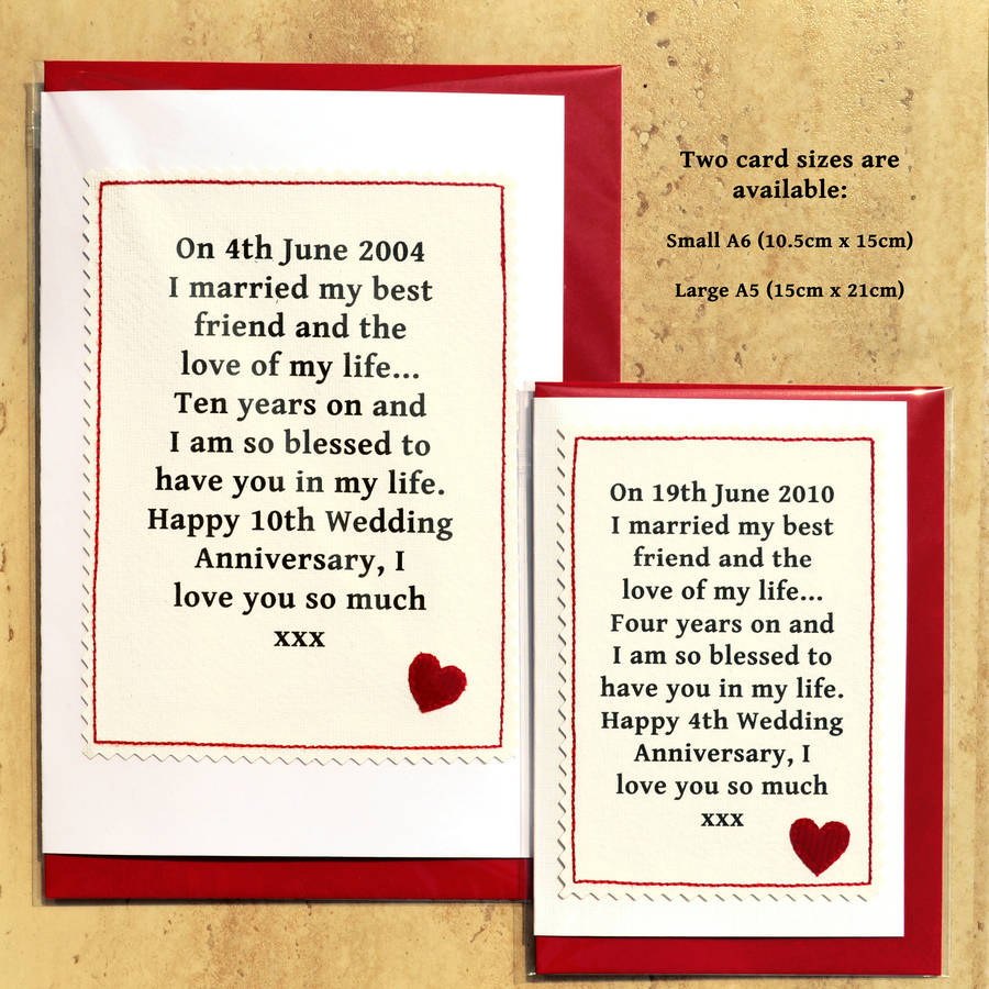 Personalised Wedding Anniversary Card By Jenny Arnott Cards Amp Gifts