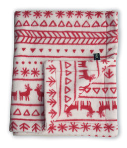 Fair Isle Style Fleece Baby Blanket - throws, blankets & fabric