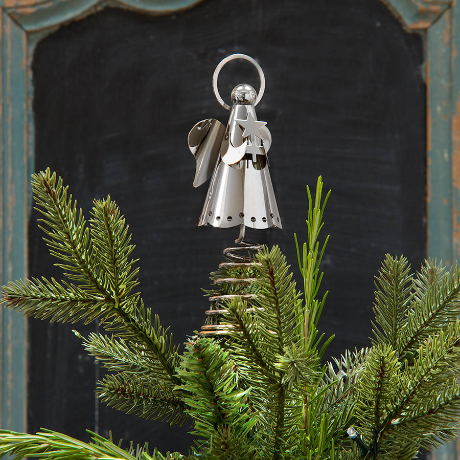 silver angel christmas tree topper by ella james ...