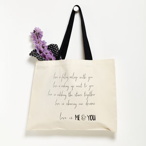 Personalised Love Is Valentine's Day Bag - cards & wrap