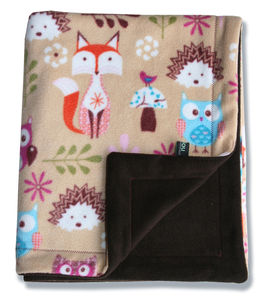 Fox And Owl Baby Blanket - throws, blankets & fabric