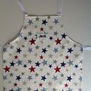Personalised Child's Blue Star Apron