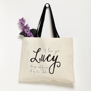 Personalised Always And Forever Tote Bag