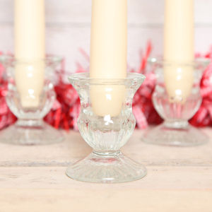 Small Clear Glass Candle Holder - christmas home