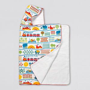 Train Design Hooded Towel