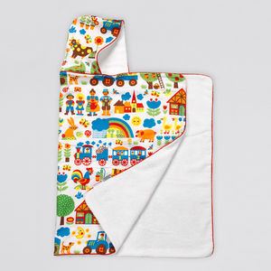 Farmyard Hooded Towel - bathtime