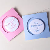 New Baby Badge Card For Siblings - cards