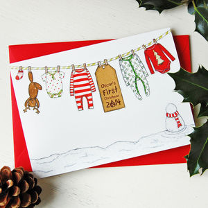 Personalised Baby's First Christmas Card - cards & wrap
