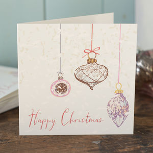 A Pack Of Bauble Decoration Christmas Cards