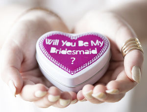 'Will You Be My Bridesmaid' Candle In A Tin - be my bridesmaid?