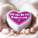 'Will You Be My Bridesmaid' Candle In A Tin