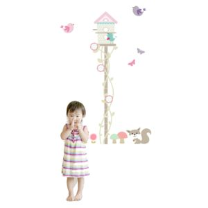 Bird House Height Chart - wall stickers