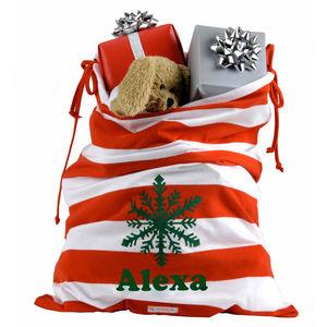 Personalised Santa Sack - view all decorations