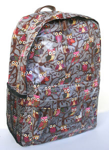 Owl Backpack Grey