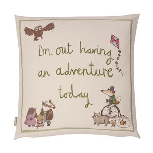 Organic Cotton Adventure Cushion Cover For Nursery - cushions
