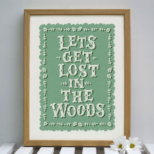 Woodland Print - children's pictures & paintings