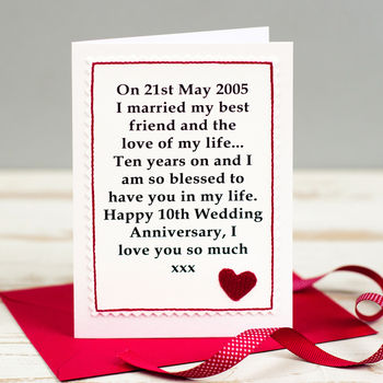 Wedding Anniversary Gifts Online Delivery : personalised wedding anniversary card by jenny arnott cards & gifts ...