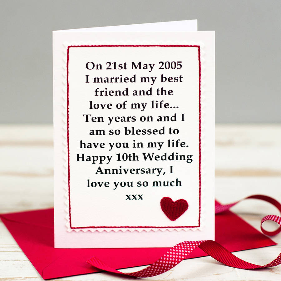 Wedding Gift Card Uk : personalised wedding anniversary card by jenny arnott cards & gifts ...
