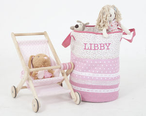 Pink Toy Storage / Laundry Bag - laundry room