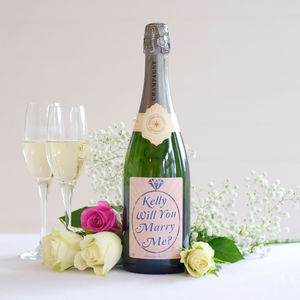 Personalised Proposal 'Will You Marry Me?' Champagne - wines, beers & spirits
