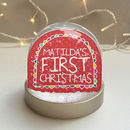 Baby's First Christmas Personalised Snowglobe
