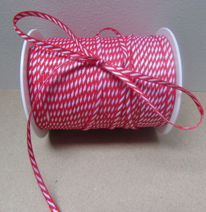 Striped Red And White Ribbon Three Metre - interests & hobbies