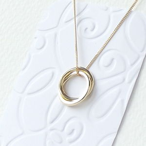 Solid 18 Carat Gold Eternity Necklace - necklaces & pendants