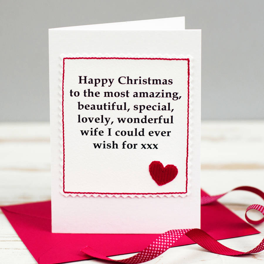 Christmas Card For Wife Or Girlfriend By Jenny Arnott