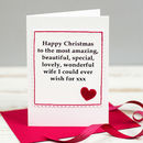 Christmas Card For Wife Or Girlfriend