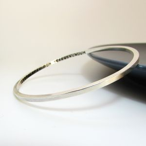 Smooth Square Silver Bangle
