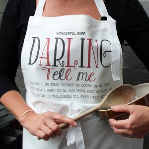 Personalised 'Typographic' Apron - kitchen
