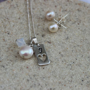 Birthstone And Tag Charm Necklace Set - jewellery sets