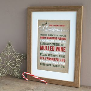 Our Perfect Christmas, Personalised Print