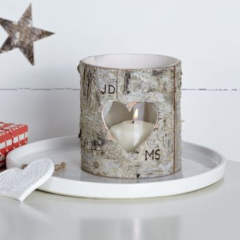 Personalised Birch Bark Vase / Candle Holder