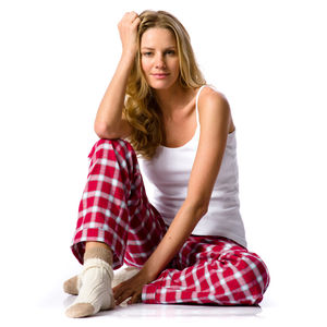 Women's Red Tartan Pyjama Bottoms