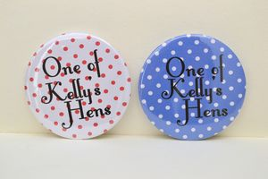 Rockabilly Style Personalised Hen Party Badges - hen party styling