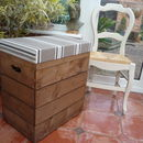 Vintage Style Double Crate Seat With Three Inch Cushion