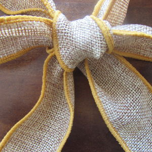 'Gold' Faux Burlap Wired Ribbon Two Metre