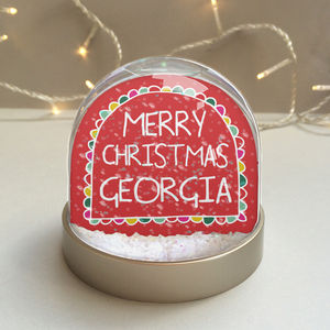 'Merry Christmas' Personalised Snowglobe