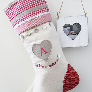 Heart Merry Christmas Stocking