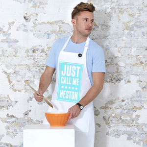 'Just Call Me Heston' Apron - gifts for brothers