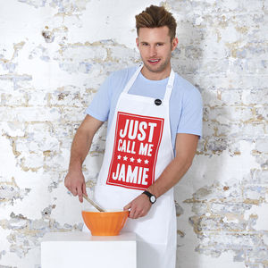 'Just Call Me Jamie' Apron - kitchen accessories