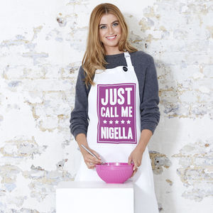 'Just Call Me Nigella' Apron - winter sale