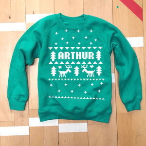Personalised Fair Isle Christmas Sweatshirt
