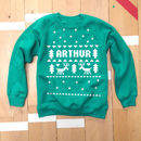 Personalised Fair Isle Christmas Jumper