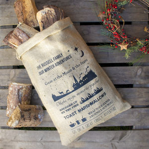 Personalised Winter Hessian Storage Sack