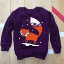 Personalised Fox In The Snow Christmas Jumper